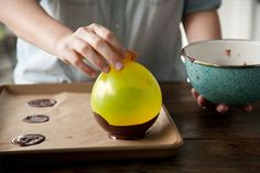 Easy chocolate bowls! Great for a dinner party desert or Easter!  yummy!