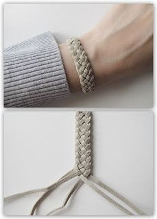 DIY 5 Strand Braid Tutorial from Design and Form here. This is a really clear tu… DIY 5 Strand Braid Tutorial from Design and Form here. This is a really clear tutorial and I like the leather cord used. For friendship bracelets of all kinds go here. Braided Bracelets, Friendship Bracelets, Friendship Knot, Blue Bracelets, Leather Jewelry, Leather Craft, Leather Weaving, 5 Strand Braids, Fishtail Plaits