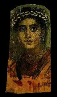 *EGYPT ~ During the 1st-3rd Century AD, painted panel portraits, more commonly referred to as Fayoum portraits (also written Fayum) were sometimes placed over the heads of mummies.