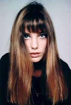 jane birkin: long hair