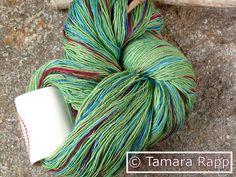 Handgesponnen & -gefärbt - MeadowSeries 3 - handgefärbtes Lacegarn - ein Designerstück von HerzKoenigin bei DaWanda