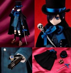 Black Butler Kuroshitsuji II Japan Anime Comic Figure Doll Ciel Phantomhive 21cm