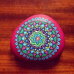 Complecated mandala stone.