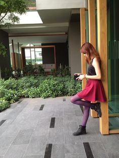 My today outfit! 25.9.12 / top : CPS / skirt : Cotton on / legging : Uniqlo / shoes : Topshop