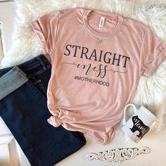 Mom T-Shirt Mom Shirt Mom Clothing Messy T-Shirt Mom Life Mom Tee Womens T-Shirt Funny Shirt T-Shirts Mom tshirt Straight Messy - Funny Mom Shirts - Ideas of Funny Mom Shirts - Easy November Mom Looks. Love this mom shirt! Mama Shirts, Cute Shirts, Funny Shirts, Cute Sayings For Shirts, T Shirt Custom, T Shirt Original, Vinyl Shirts, Mom Outfits, School Outfits