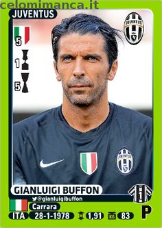 For Gianluigi BUFFON's birthday years old today) it's time for a Tribute to one of the greatest goalkeepers of all time with his 32 Pa. Roberto Baggio, Pork Pie Hat, Football Stickers, Juventus Fc, Goalkeeper, Football Players, Soccer, Sports, Panini