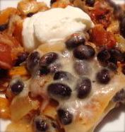 the healthiest enchilada casserole ever! easy substitutions