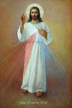 Divine Mercy. Jesus I Trust In You Painting