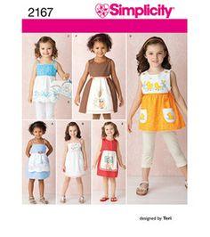 Simplicity Pattern 2167-Child's Dresses & Hanger Cover, Sz 3-8
