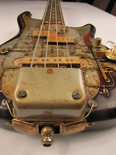 Greyhoundcaster guitar front angled detail Picture