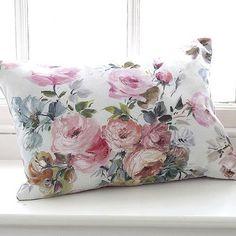 Painterly rose cushion