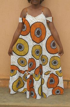 Stand out from the crowd in this long flowing African print maxi dress with its unique colorful prints. Made in cotton Ankara and A line in shape for your comfort. Fits bust size 34 inches to 38 inches (US size 6 to For custom orders please send Long African Dresses, Latest African Fashion Dresses, African Print Dresses, African Print Fashion, Ankara Fashion, Africa Fashion, African Prints, African Fabric, Short Dresses
