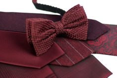 Marsala Menswear Accessories for Marsala Weddings.
