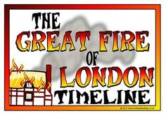 A set of 11 printable posters showing a timeline of the key events from the start to the end of the Great Fire of London. Posters show the date and time of the key event with information and pictures, including accounts of Samuel Pepys. Great Fire Of London, The Great Fire, Primary Teaching, Teaching English, Primary School, Teaching Ideas, Ks2 Classroom, Classroom Ideas, London Poster