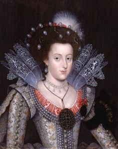 1613 Elizabeth Stuart (1596-1662), as Electress consort Palatine, Daughter of King James I and Anne of Denmark
