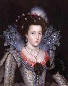 1613 Elizabeth Stuart (1596-1662), as Electress consort Palatine, Daughter of King James I and Anne of Denmark