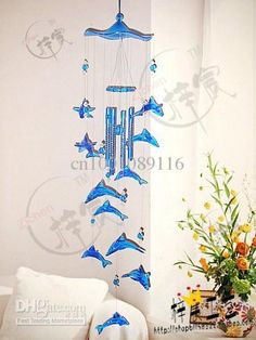 2018 Imitation Crystal Dolphin Wind Chimes Hangings Door Trim Birthday Gift Rustic Metal Shell Crafts From Cn1001089116 33 67 Dhgate Com