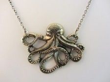 Octopus necklace, available in silver or gold.  $16