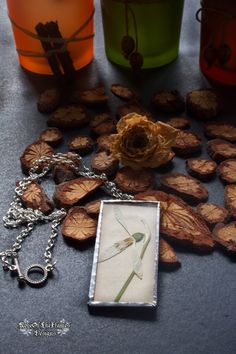 Snowdrop flower natural necklace jewelry. White necklace jewelry. - pinned by pin4etsy.com