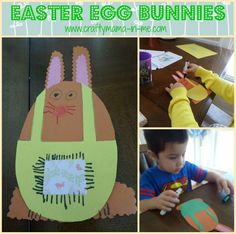 Easter Egg Bunnies - Crafty Mama in ME!