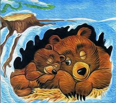 Winter Crafts For Kids, Art For Kids, Animals That Hibernate, Teddy Bear Hug, Animal Puzzle, Animal Habitats, Animal Activities, Art Sites, Wildlife Art