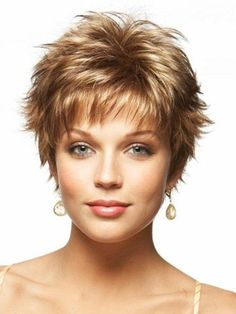 The razored ends make this hairstyle extra saucy with layers that are easy to spike up when styling.: