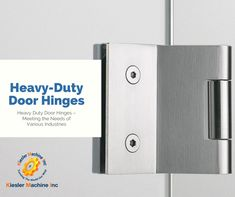 Kiesler Machine Inc. is a manufacturer of heavy-duty shed door hinges for vault doors with load capacity from 400 lbs to 40,000 lbs. These iron #doorhinges made from carbon steel or stainless steel material. #HeavyDutyDoorHinges #KieslerMachine #Hinges
