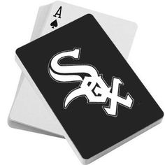 MLB Chicago White Sox Playing Cards by PSG. $6.81. MLB Team logo playing cards. Standard size playing cards feature 52 playing cards and 2 jokers. Each deck has your favorite team's logo on full color on the reverse side.