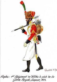 Zappatore del 1 rgt. delle Velites della guardia reale