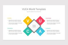 VUCA World PowerPoint PPT Template Diagrams is a professional Collection shapes design and pre-designed template that you can download and use in your PowerPoint. The template contains 16 slides you can easily change colors, themes, text, and shape sizes with formatting and design options available in PowerPoint. Initial Fonts, Shape Design, Keynote Template, Lorem Ipsum, Color Change, Initials, Diagram, Shapes, Templates