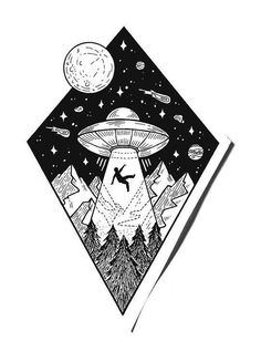can't be scarier then mine Space Drawings, Dark Art Drawings, Pencil Art Drawings, Cool Drawings, Tattoo Sketches, Tattoo Drawings, Body Art Tattoos, Art Sketches, Alien Tattoo