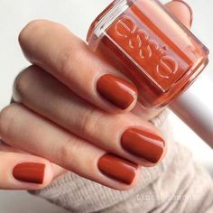 Nail Colors, Nail Polish Trends, Nail Care & At-Home Manicure Supplies by Essie. Shop nail polishes, stickers, and magnetic polishes to create your own nail art look. Cute Nails, Pretty Nails, Hair And Nails, My Nails, Polish Nails, Orange Nail Polish, Fall Nail Polish, Pink Nail, Essie Nail Polish Colors