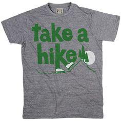 Men's Take A Hike T-Shirt, Vintage Hiking Tee, Take a Hike Outdoors Tee at PalmerCash.com