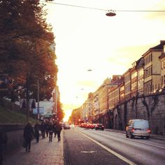 Hornsgatan, the most polluted street in Stockholm.