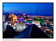 Las Vegas skyline, casinos, lights