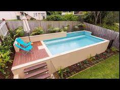 Kleiner oberirdischer Pool im Hinterhof – Small Backyard Pools