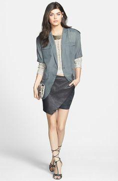 Trouvé Jacket, Velvet by Graham & Spencer Pullover & Maison Scotch Miniskirt  available at #Nordstrom