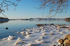 Ice crowns on Hafrsfjord - Sola, Rogaland