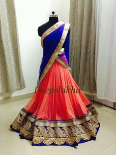 Half Saree Lehenga, Sari, Indian Dresses, Indian Outfits, Indian Clothes, Indian Wedding Fashion, Lehenga Designs, Indian Couture, Indian Ethnic Wear