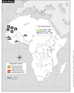 SWBAT identify the locations of medieval West African trading empires and examine the ways geography shaped the cultural, religious, political, and economic landscape of Africa over time