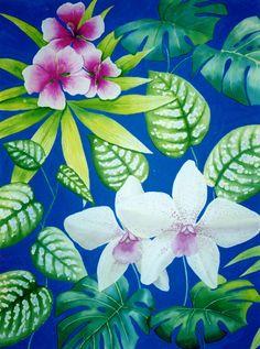 Tropical design by Cressida Carr Tropical Design, Garden Painting, Custom Cards, Portfolio Design, Textile Design, Design Projects, Plant Leaves, Textiles, Paintings