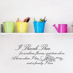 Baby Boo Decor - I-198 I thank thee, $29.50 (http://www.babyboodecor.com/i-198-i-thank-thee/) #wallart #inspirational #quotes #wallquote #wallsticker #vinylwall #walldecal #walldecor #home #decor #wall #art #vinylwallart #inspirationalquote #baby #kids #bedroom