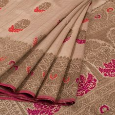 Buy Online Banarasi Tussar Silk Saris - one stop destination for shopping at Best Prices in India.