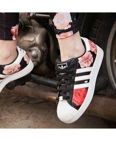 d0bca91f5 Adidas Superstar Rose Print Trainers Cheap Sale Sapatos Femeninos