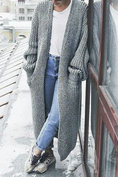 Artsy feminine fashion cold beige cardigan L size.
