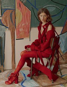 Fanny Latour-Lambert Flashes Art Muse Mariam de Vinzelle For Vogue Russia April 2017 — Anne of Carversville http://www.anneofcarversville.com/style-photos/2017/3/18/fanny-latour-lambert-flashes-art-muse-mariam-de-vinzelle-for-vogue-russia-april-2017