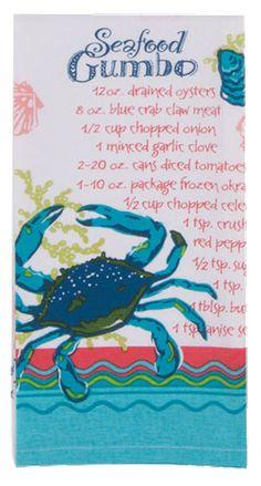 Seafood Gumbo Flour Sack Towel
