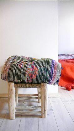 Vintage Moroccan Rag Rug  BOUCHEROUITE abstract por lacasadecoto, €175.00