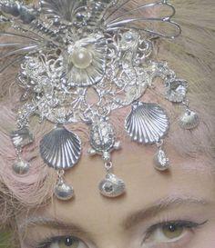 silver hair piece