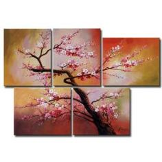 @Overstock - This colorful gallery-wrapped canvas art brings enchantment to your home. The five-piece art set features a painting of blooming plum blossoms against an orange gradient background. Its striking presence measures 44 inches tall by 64 inches wide.http://www.overstock.com/Home-Garden/Plum-Blossom-5-piece-Gallery-wrapped-Canvas-Art-Set/5999687/product.html?CID=214117 $112.99